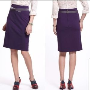 ANTHRO Girls from Savoy purple pencil skirt S.4